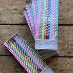 Striped Birthday Candles